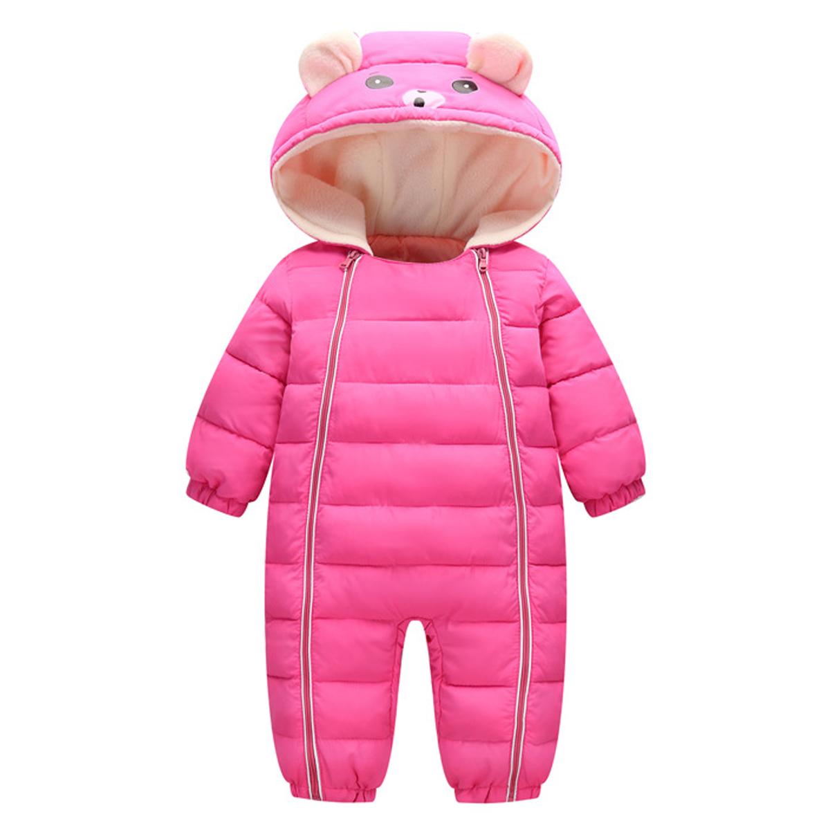 b5f820c88 Newborn Baby Snowsuit Boy Girl Romper Jumpsuit Winter Clothes ...