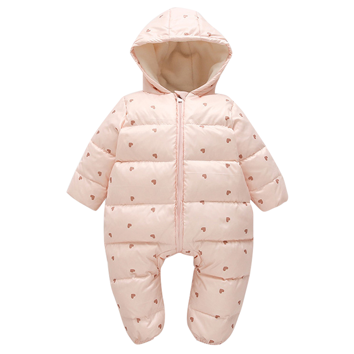 04d71cb71ad0 Newborn Baby Winter Duck Down Snowsuit Romper Kids Warm Coat Hooded ...