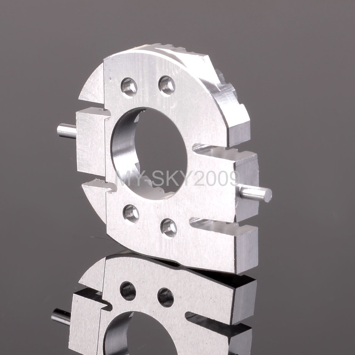 Alloy Motor Heat Sink Plate 1pc For Tamiya CC01 Silver