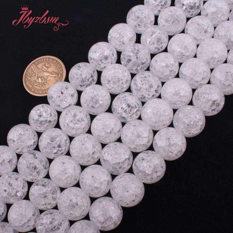 4-16mm-Round-Cracked-White-Crystal-Rock-Quartz-Natural-Stone-Loose-Beads-15-034-DIY