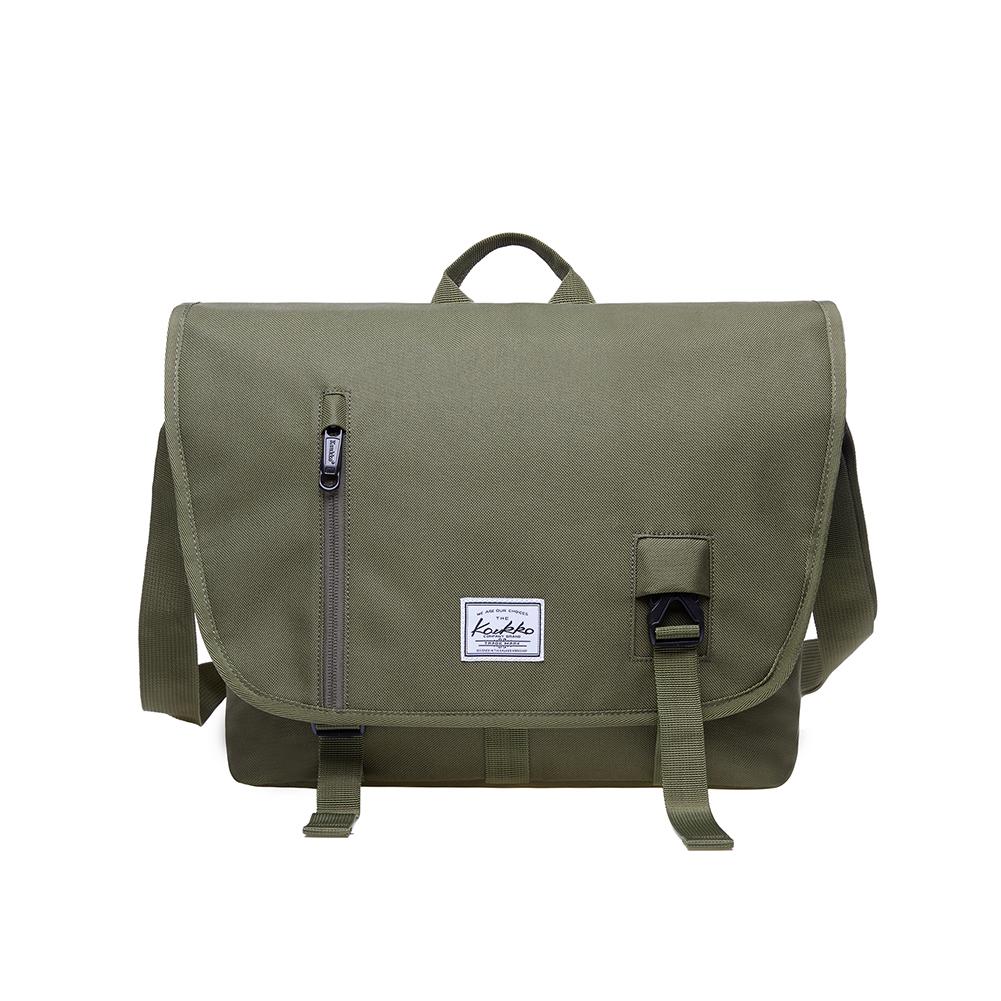 5ccf355105 Details about KAUKKO Vintage Shoulder Bag Messenger Laptop Shoulder Bag  College Bag (GREEN)