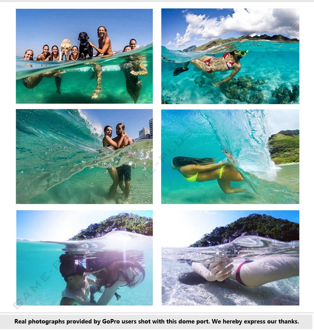 6 Dome Port Underwater Diving Camera Lens Cover For Gopro Hero 3 Clear Photography Xiaomi Yi 4