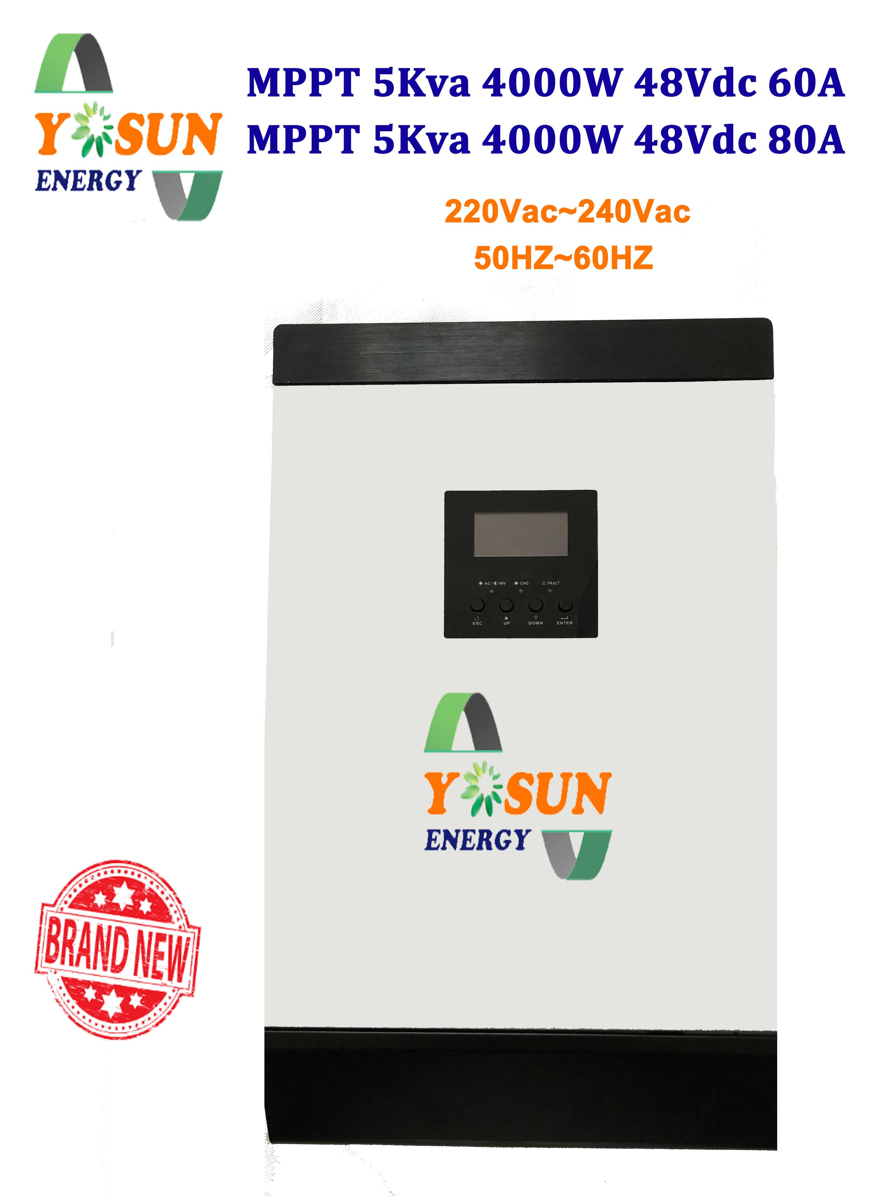 5kva Solar Inverter 4000w Mppt Pure Sine Wave 60a Or 80a Wavedc Sign Wavesine Diagrampwm Inverterpure Ac Charge