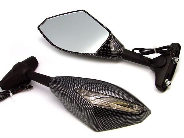 Carbon fiber LED Turn Signals Intergrated Mirrors For Honda CBR 125R//150R//250R