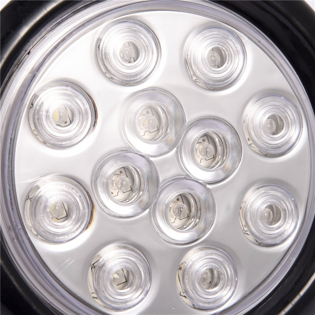 4xwhite 4 U0026quot  Round Flush Mount Trailer Truck Clearance Turn Signal Stop Tail 12led