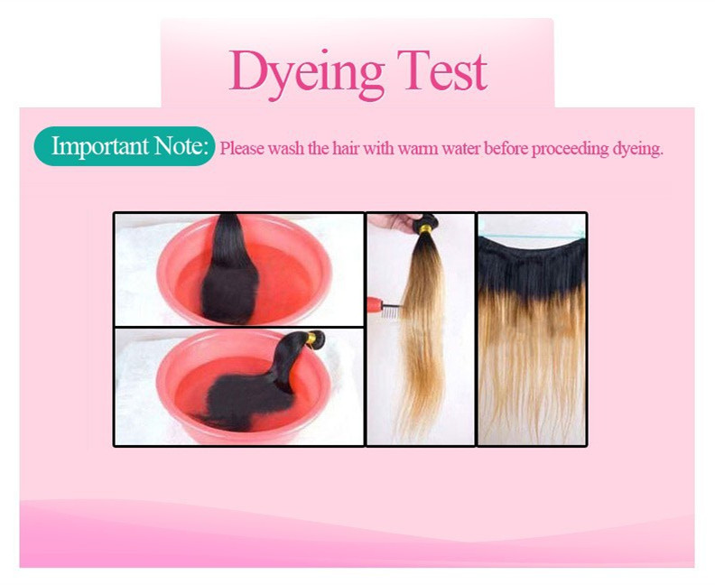 Lace Closure Dyeing Test