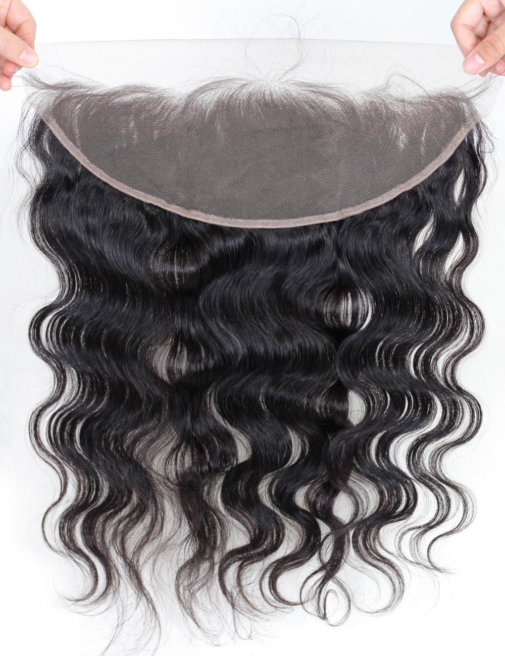Virgin Human Hair Lace Frontal Wigs (3)