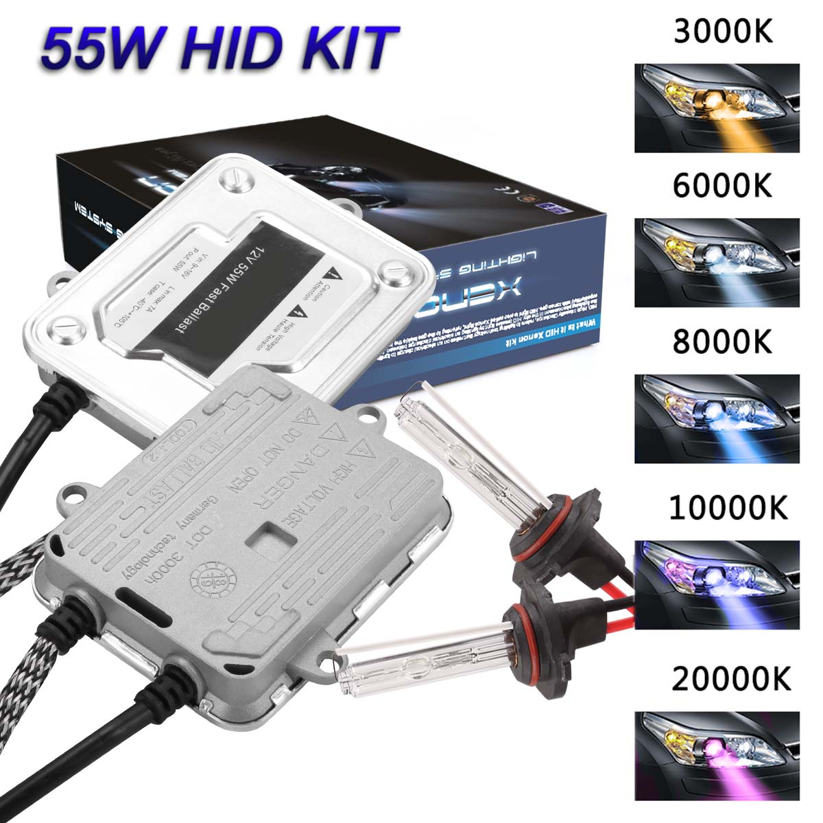 H7 10000K PX26d 477 HID Xenon Slim Ballast Conversion KIT CAR LIGHTS LAMPS B