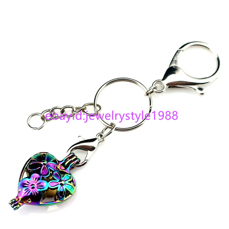 YC446 Shell Sea  Cage Keychains Bag Hang Accessories Keyring