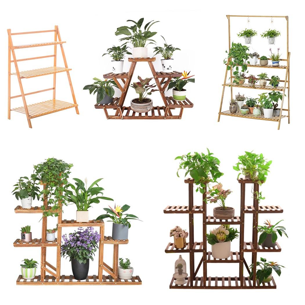 Blumentreppe Pflanzentreppe Holz Blumenregal Blumenständer Blumenbank Leiter NEU
