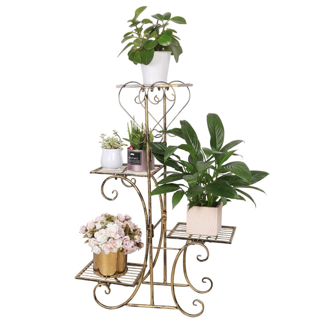 Details zu Blumentreppe Metall Blumenregal Blumenständer Blumenbank für  Wohnzimmer Garten