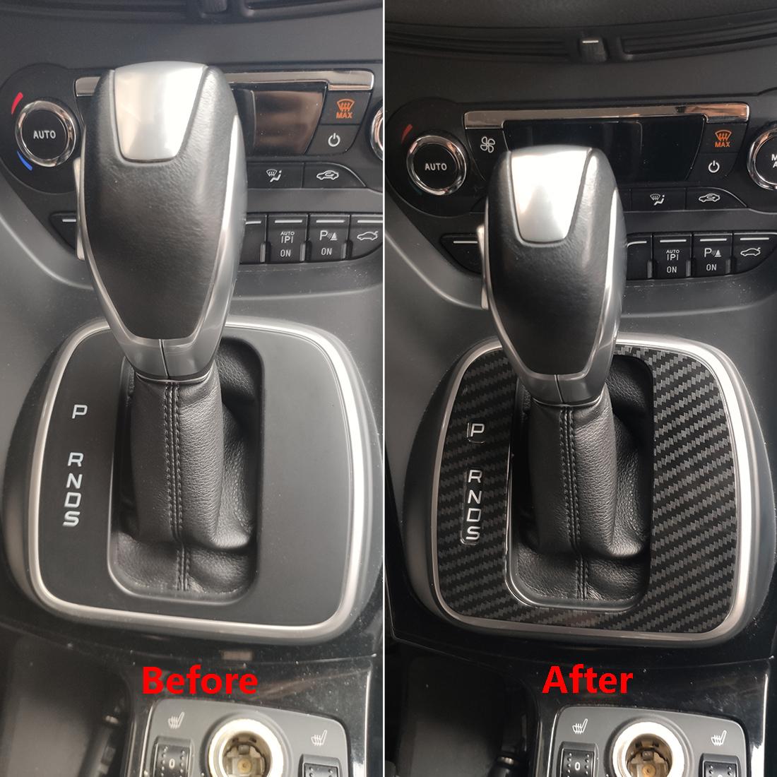 Interior Gear Shift Knob Decorator Cover Panel Trim For Ford Escape Kuga 2017