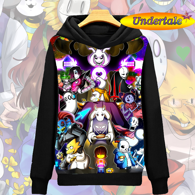 Undertale Sans Papyrus Game Unisex Pullover Casual Sweater Hoodie Jacket Coat #E