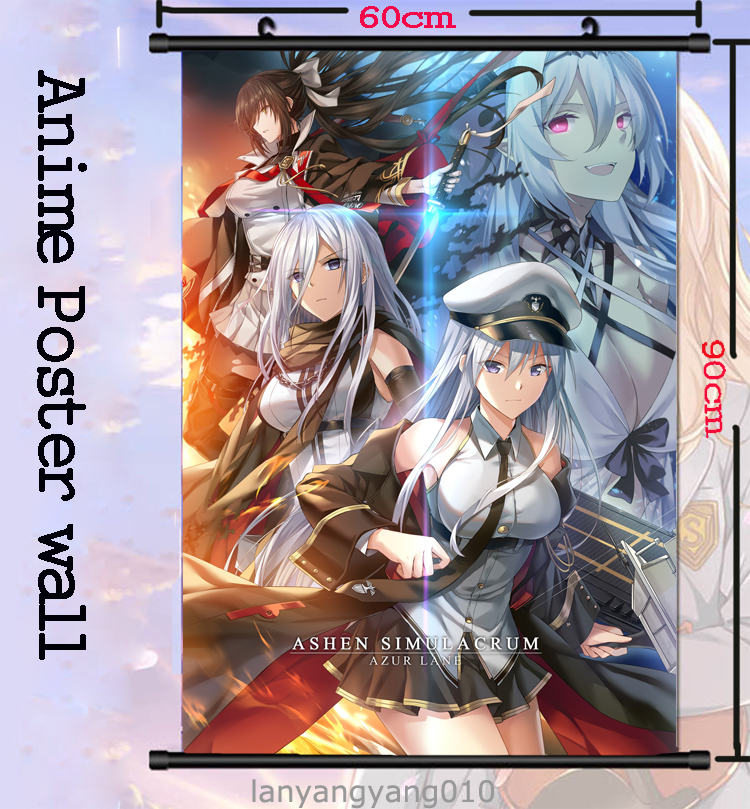 Anime Azur Lane Cosplay HD Wall Scroll Poster Home Decor collectible 60x90cm