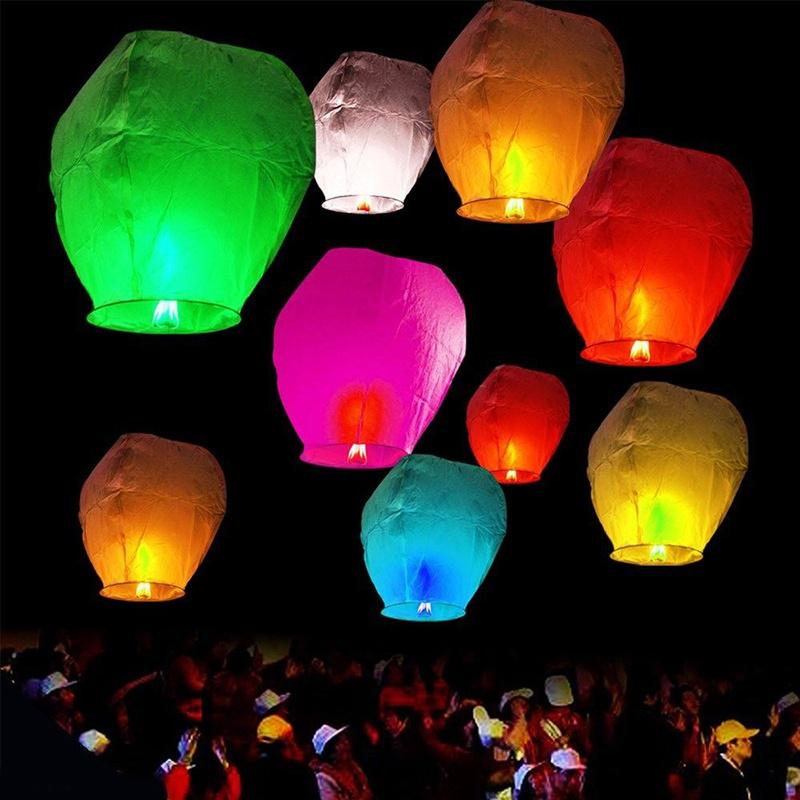 White Paper Chinese Lanterns Sky Fly