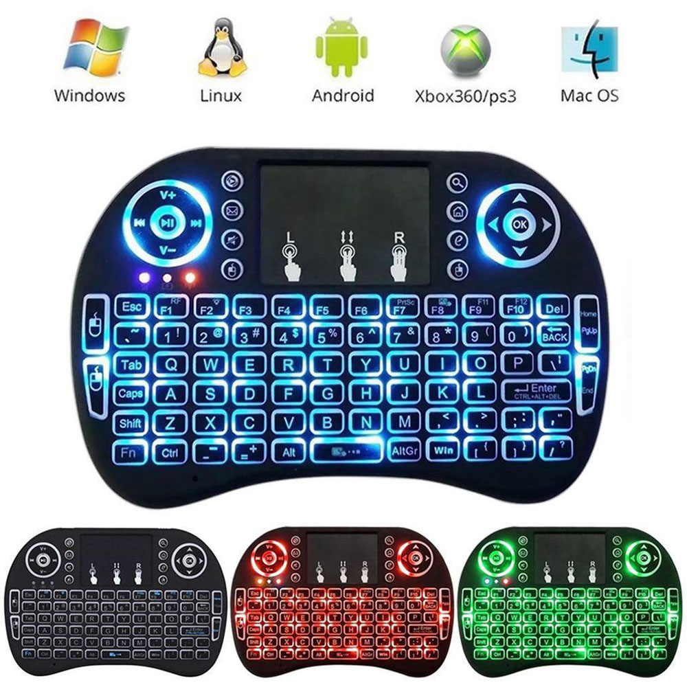 629ec76a4ea Details about Wireless Remote Mini 2.4G Keyboard for Smart TV Android TV  BOX Laptop Touchpad