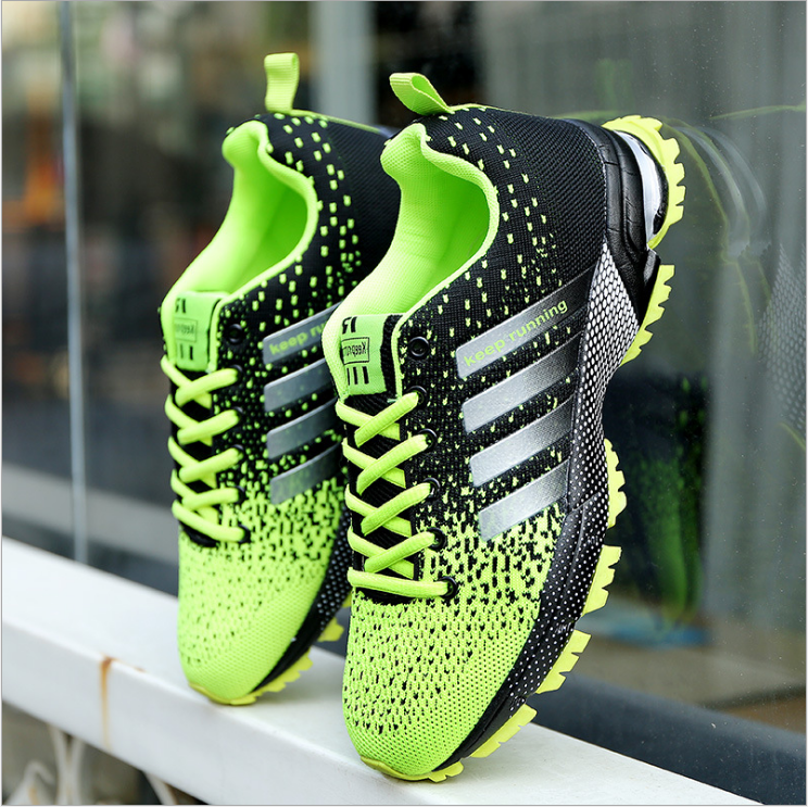 Men's Air Cushion Athletic Sneakers Keep Running Sports Shoes Mesh Breathable