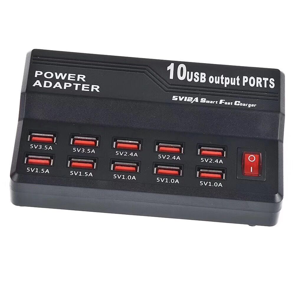 Multi 12 Port USB Fast Charging Charge Station HUB 5V 3.5//2.5//1.5A Surge Protect