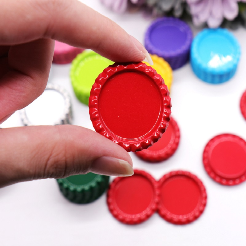 10pcs Flattened Bottle Caps for Party Favors Scrapbooking DIY Hair Bows Crafts