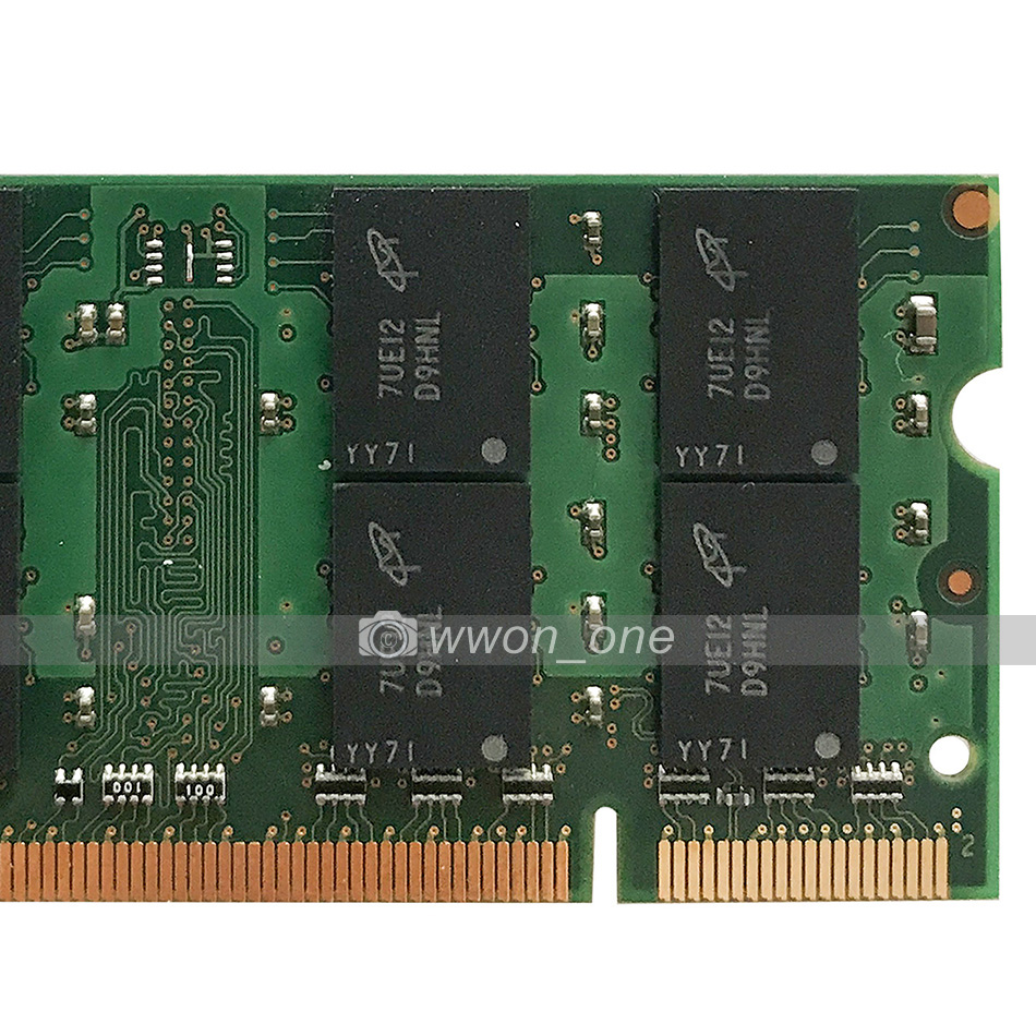 Tested RAM 2X 1GB 2RX8 PC2-5300S 667 Laptop DDR2 667Mhz SODIMM Memory 200pin @4H