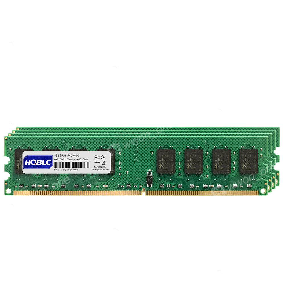 Tested 4x 4GB DDR2 PC2-6400U 800MHz 240PIN DIMM for AMD CPU Desktop memory @10H