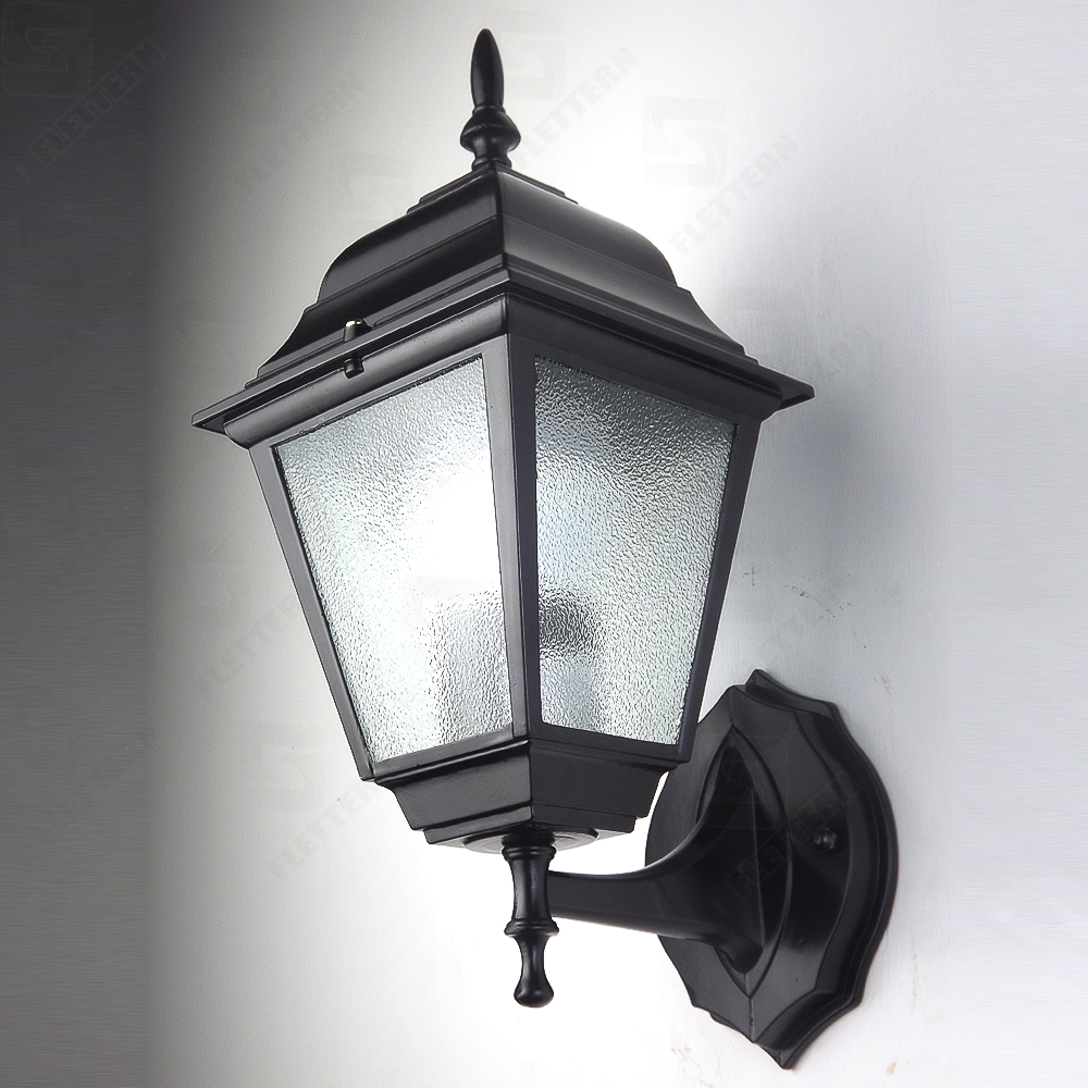 Outdoor Wall Lantern 4 Sided Aluminum Garden Wall Light