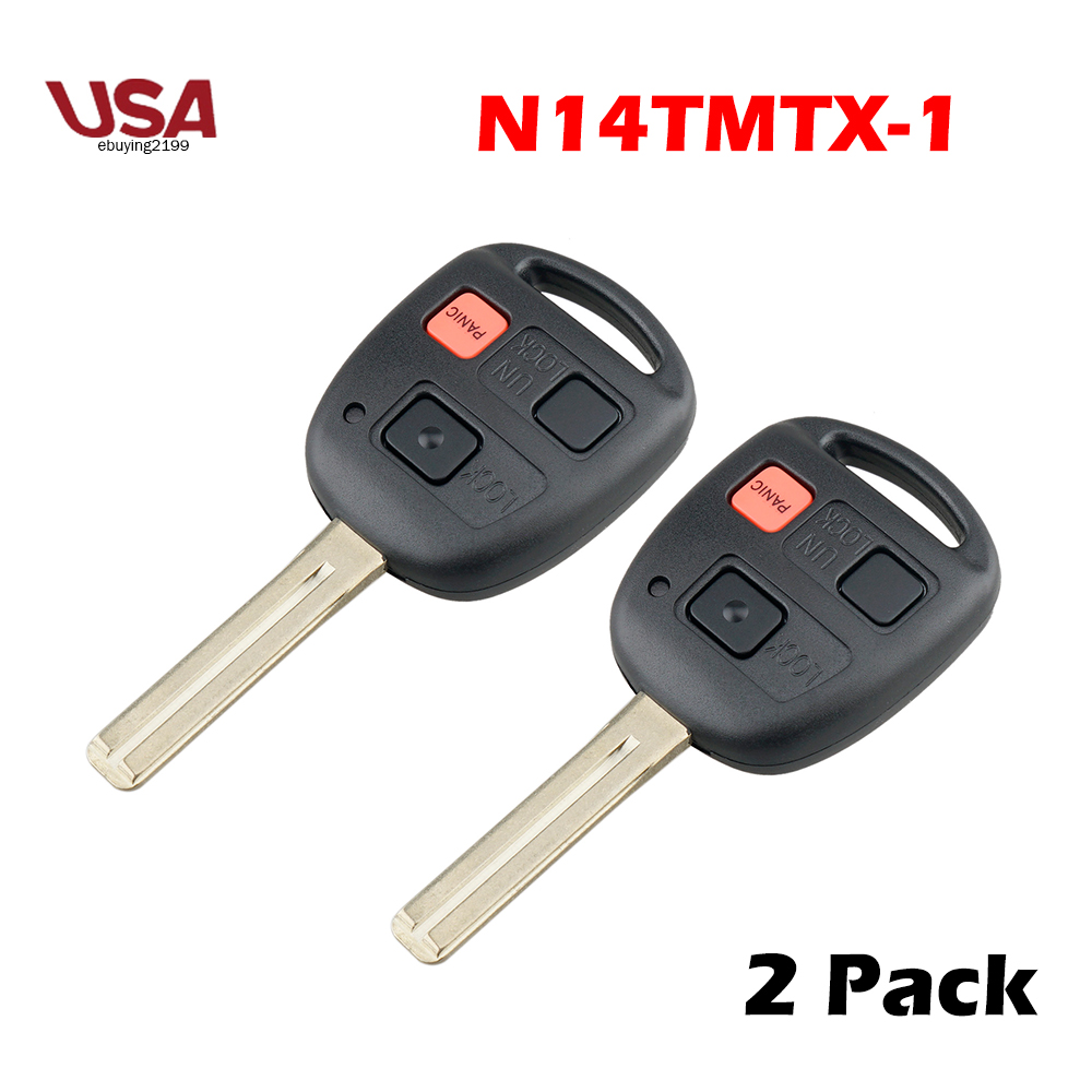 2X Replacement Remote Key Fob 312MHz For Lexus RX300 1999