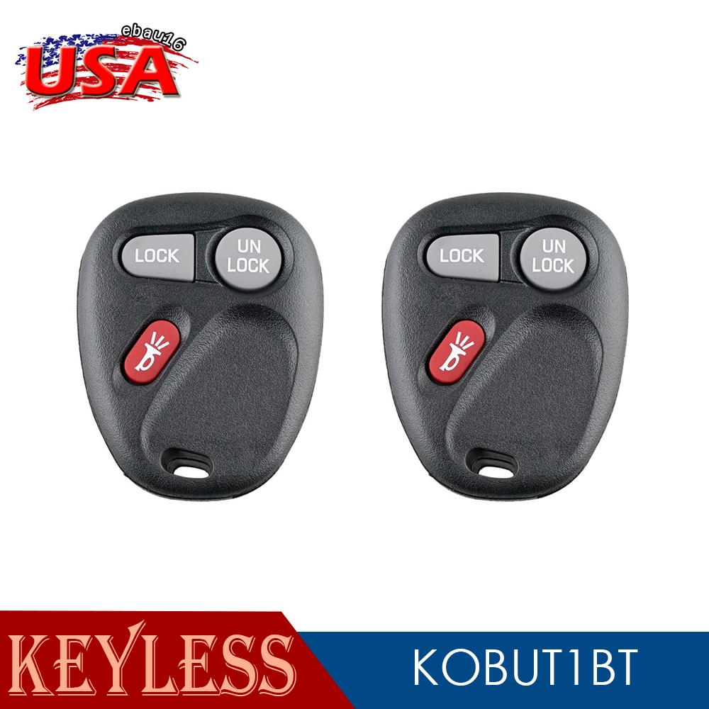 2x Car Transmitter Alarm Fob Remote Control for 1999 2000 2001 GMC Sierra Key