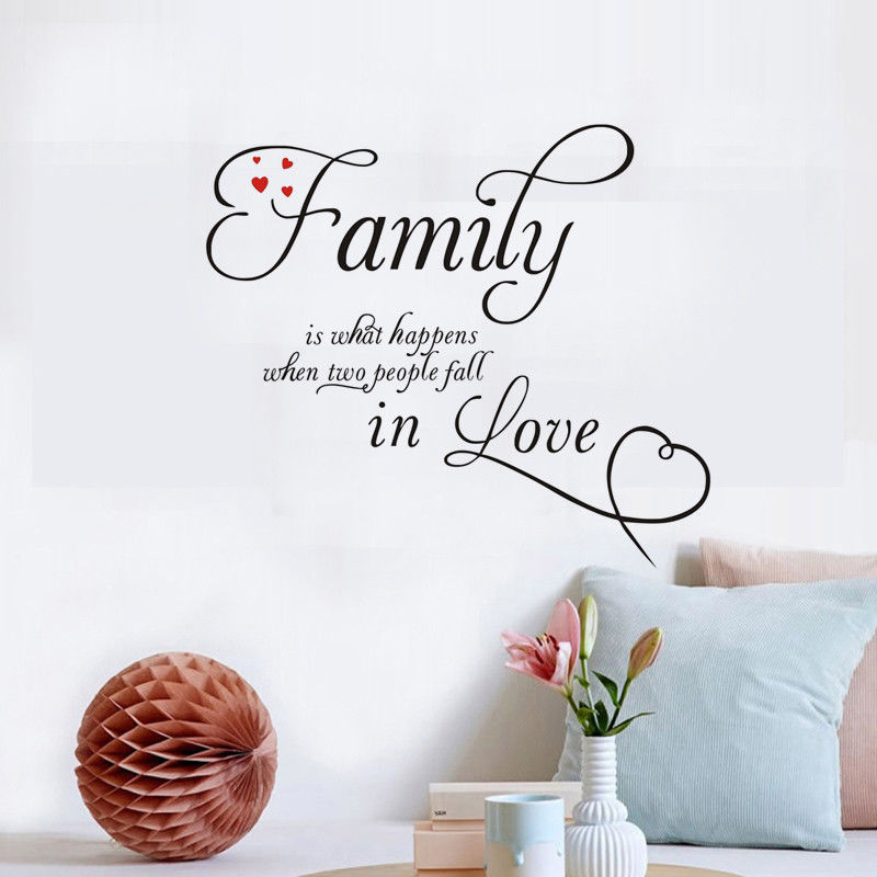 Words Quote Family Wall Sticker Bedroom Goodnight Vinyl