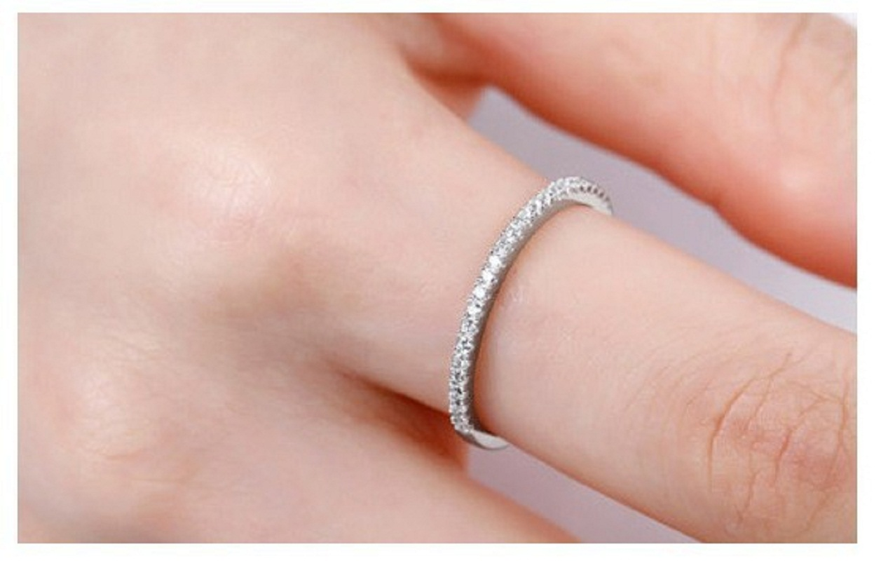 Cheap Wedding Rings for Women Platinum Plated Round CZ Ring Crystal ...
