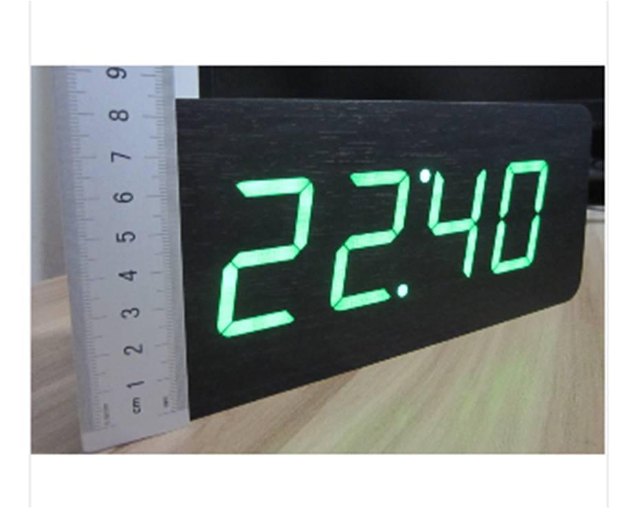 Table Clocks Wood LED Alarm Clock Large Number 5 Functions Modern Digital    EBay