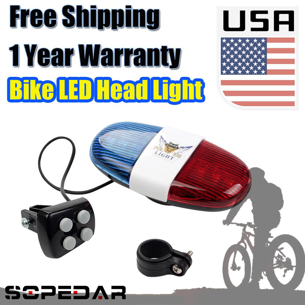 1PCS Bike Light Head Light Headlight Lamp AAA Waterproof Handlebar LED Light