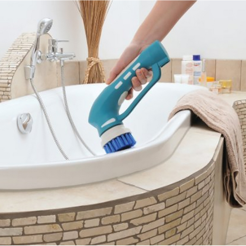 Handheld Electric Cleaning Brush Scrubbing Tool For Bathroom U0026 Kitchen