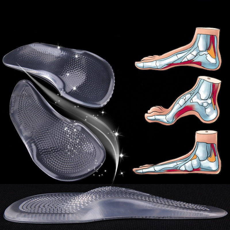 Details About Gel High Heels Arch Support Inserts Orthopedic Flat Foot Insole Orthotics Shoe