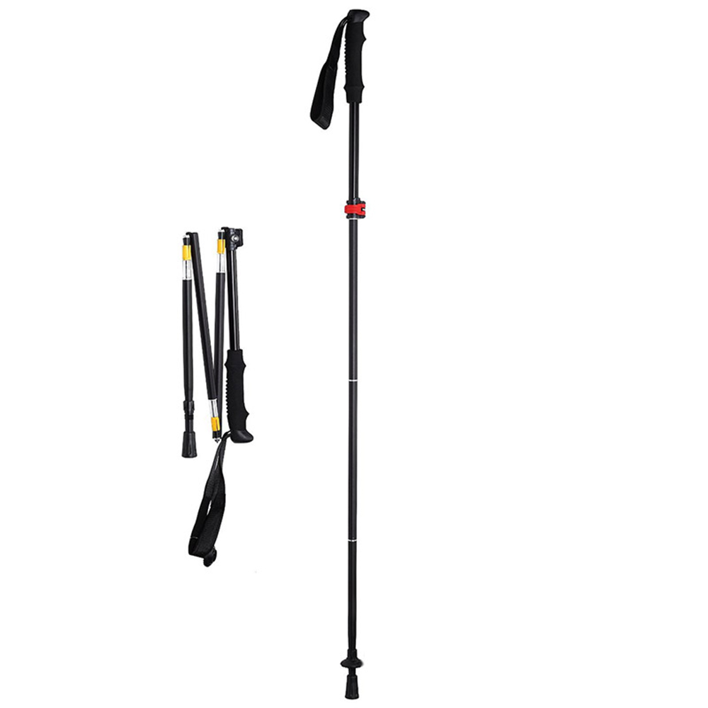 Aluminum Alloy Light Adjustable Alpenstock Hiking Pole Trekking Walking Stick