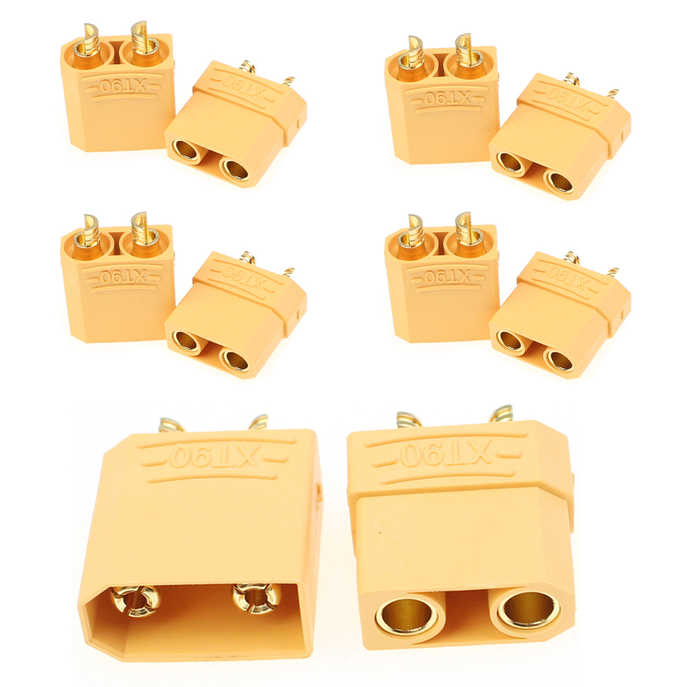 1 Pair Female Male XT90 Banana Plug Bullet Connector 4.5mm For RC LiPo Battery S