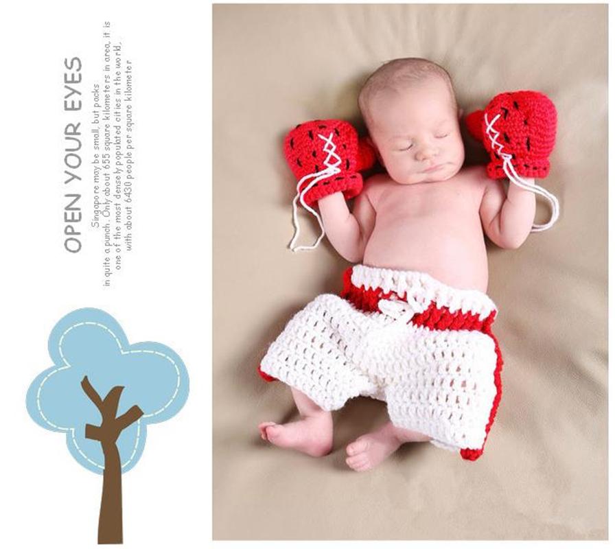 Newborn Baby Crochet Knit Costume Photography Prop Cute Soft Outfits Handmade