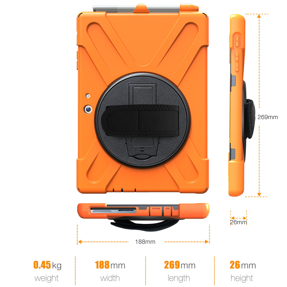 Details about 360 Rotating Rugged Stand Hard Case Cover For Microsoft  Surface Pro 4 5 6 Tablet