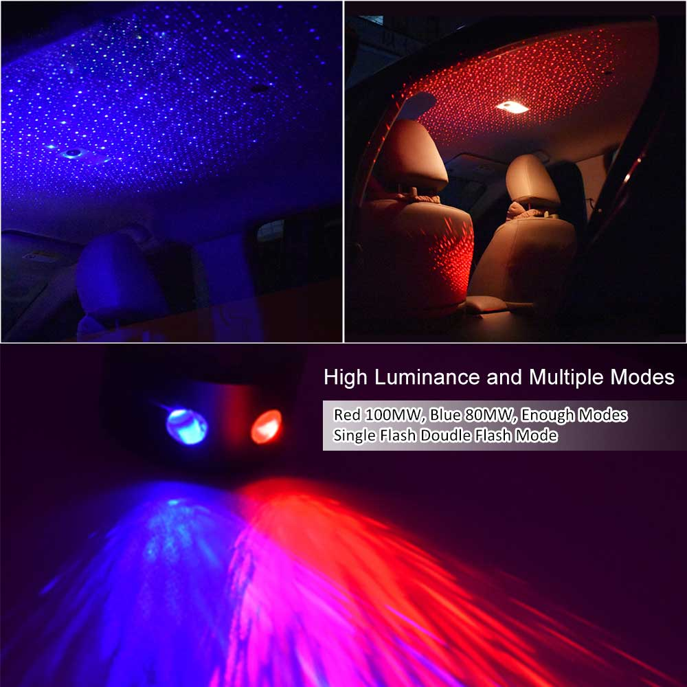 Car Roof Star Lights Projector Ceiling Decoration Interior
