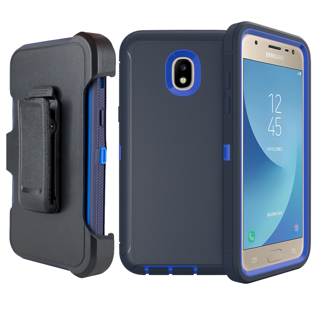 buy online e13ea b7875 Details about For Samsung Galaxy Star J3 2018 Hybrid Case Armor Cover (fit  Otterbox Belt Clip)