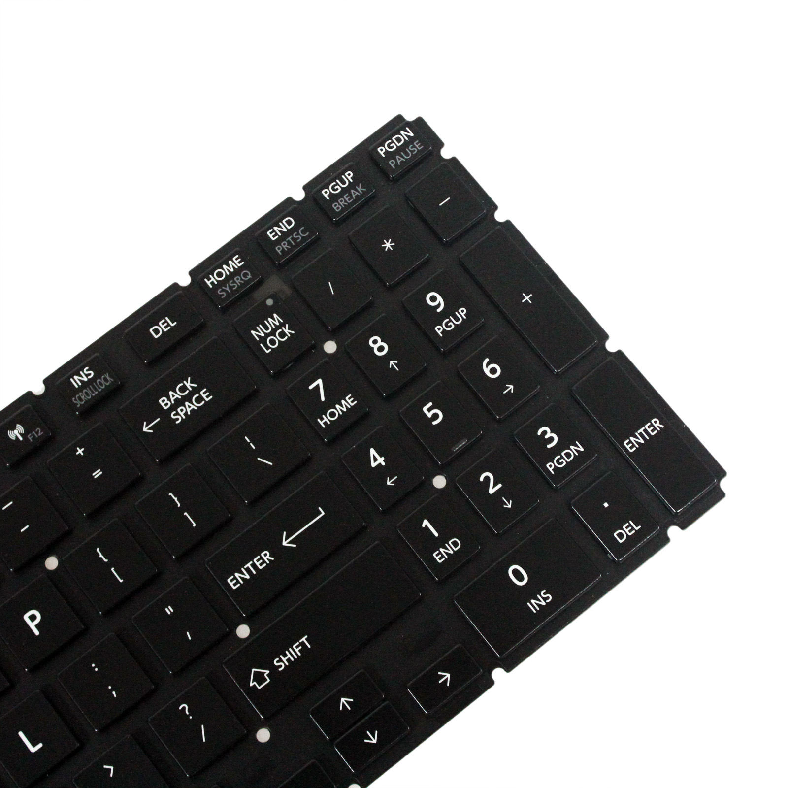 Original New for Toshiba AEBLIU01110 9Z.NBCBQ.001 US Black Backlit Keyboard