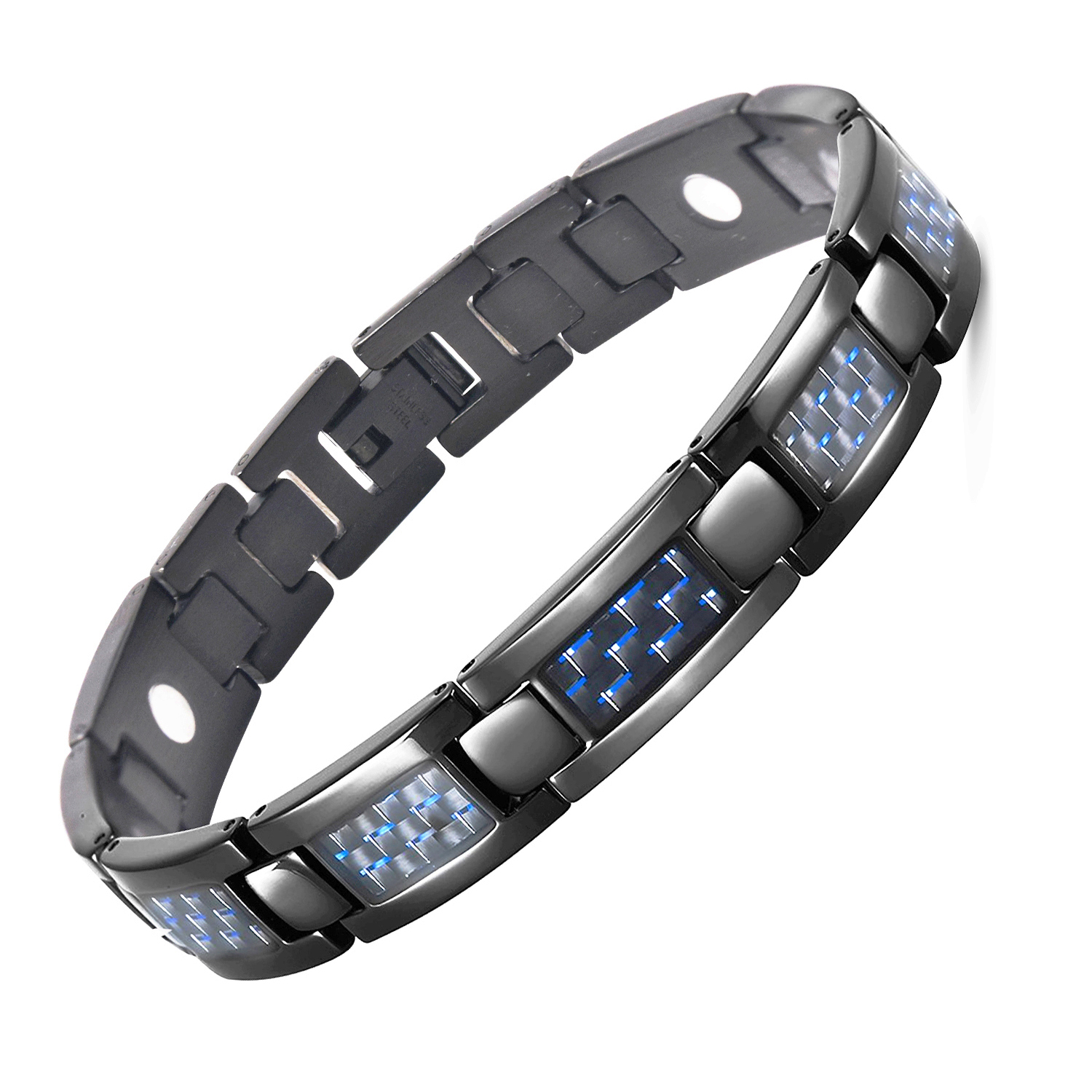 enlarge black mens leather jewel the to click bracelet emporio armani hut