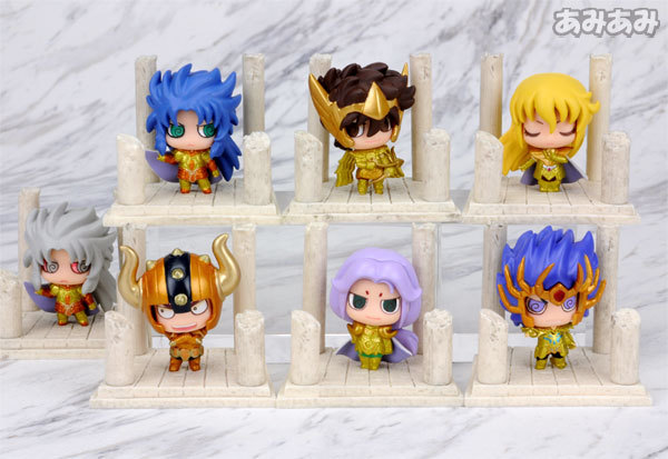 Saint Seiya  golden set of 7pcs collect figure figures doll toy Statues gift
