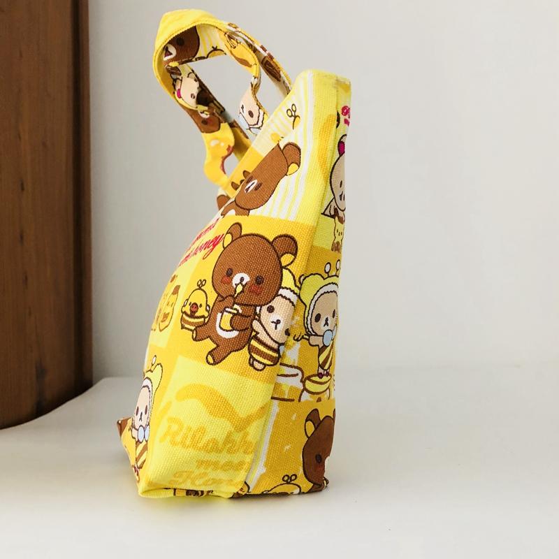 Rilakkuma Urso Abelha fofo presente Bolsa lancheira Bolsa Tote Bolsa de reciclagem Unissex