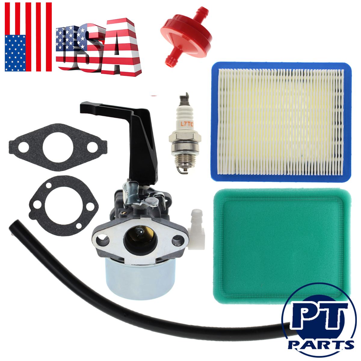 Tiller Carburetor Carb Replacement with Gasket Kit for 696065 Briggs /& Stratton