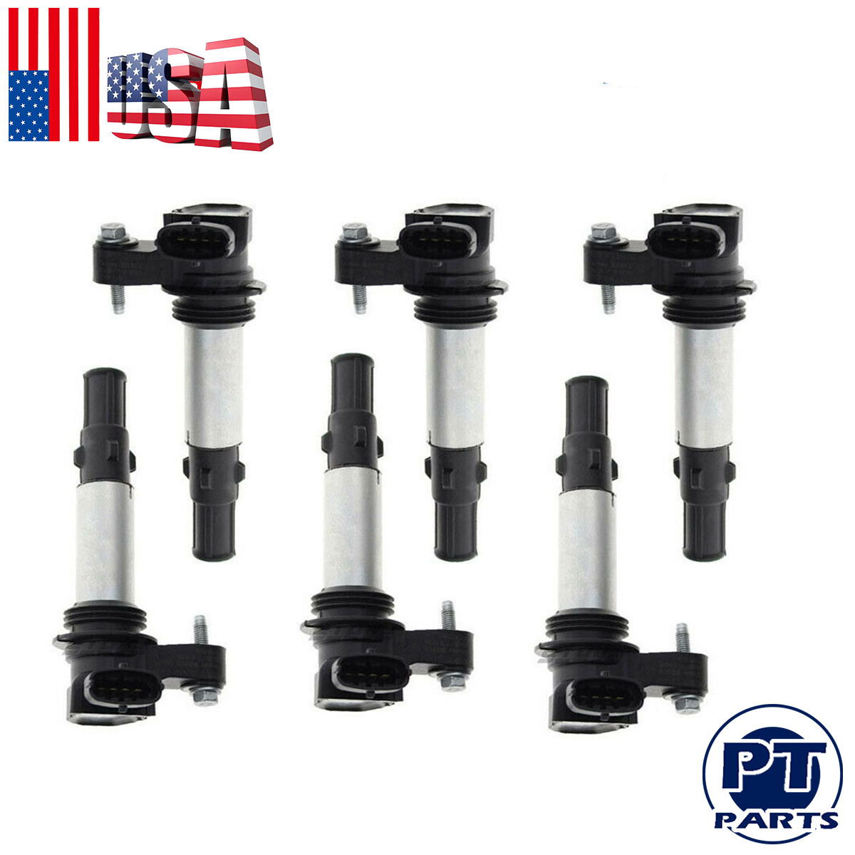 6 Pcs Ignition Coil FOR GM UF375 Cadillac Buick Acadia