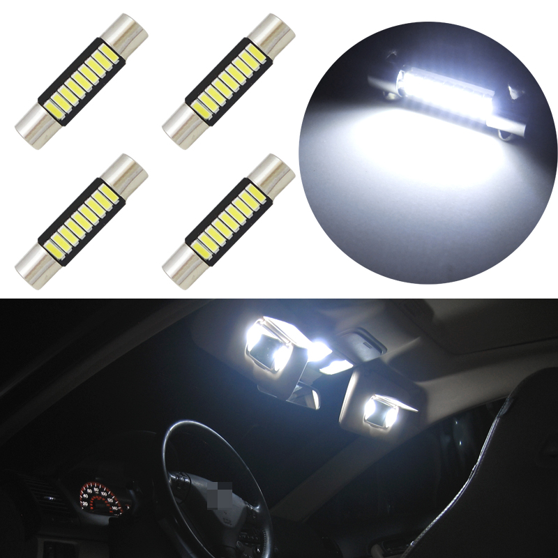 4x Xenon White 3 5050 Smd Led Bulbs For Car Vanity Mirror Lights Sun Visor Lamps Ppid Tabanankab Go Id