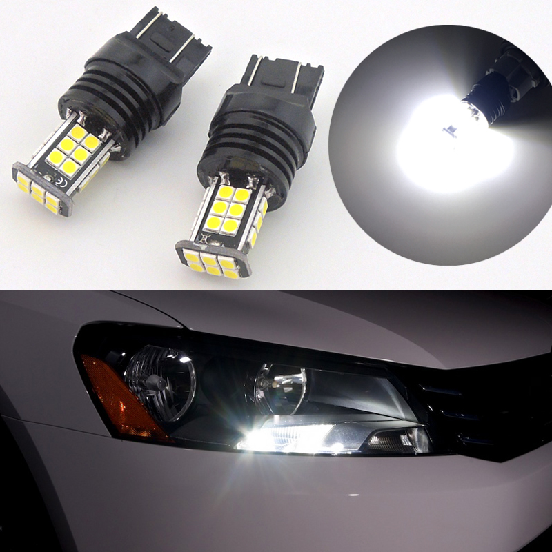 2x H7 Car Xenon Headlight Bulbs 100w 12v White To Fit VW Passat 3C2 1.9 TDI