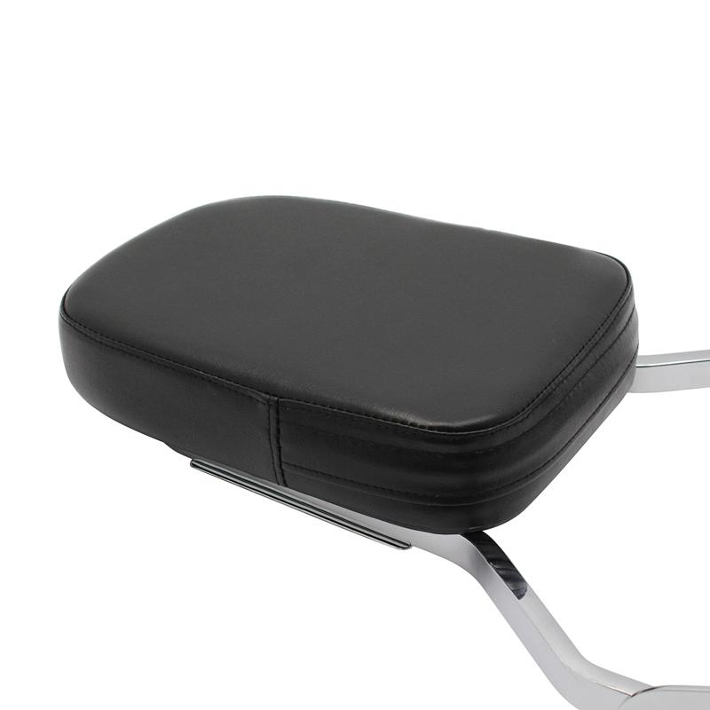 Chrome Backrest Sissy Bar Cushion Pad for Honda VTX1300 VTX1800 C//R//T//N//F//S