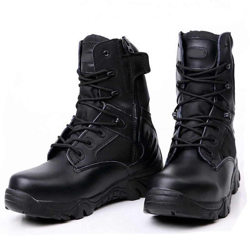 herren leder schuhe military tactical armee kampf combat stiefel wandern boots ebay. Black Bedroom Furniture Sets. Home Design Ideas